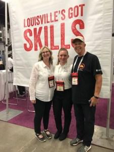 Stephanie Wheeler, Julia Coyne, and Brian Wheeler