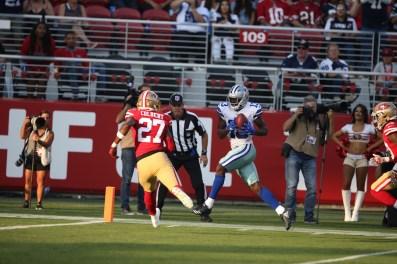 San Francisco 49ers vs Cowboys #13 Michael Gallup Touchdown catch Photos by Tod Fierner ( Martinez News-Gazette )