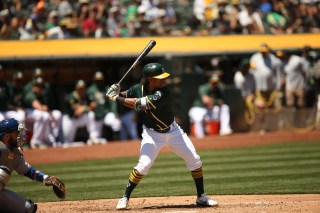 Oakland Athletics vs Toronto Blue Jay's #2 DH Khris Davis A's win 8-3 Photos by Tod Fierner ( Martinez News-Gazette )