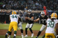 Oakland Raiders vs Green Bay Packers #4 QB Derek Carr Photos by Tod Fierner ( Martinez News-Gazette )