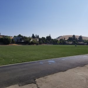 The new playing field at Las Juntas Elementary