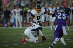 Alhambra Bulldogs vs College Park Falcons #8 K Alejandro Martinez Photos by Tod Fierner ( Martinez News-Gazette )