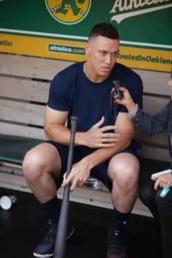 Oakland A's vs New York Yankees OF Aaron Judge Photos by Tod Fierner ( Martinez News-Gazette )