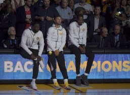 Golden State Warriors vs Oklahoma City Thunder Draymond , Steph & KD Photos by Gerome (Martinez News-Gazette)