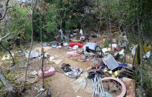 A cleanup effort off Marina Vista near Shell's property