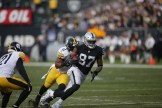 Oakland Raiders vs Pittsburgh Steelers TE #87 Jared Cook Photos by Tod Fierner ( Martinez News-Gazette )