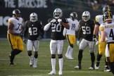 Oakland Raiders vs Pittsburgh Steelers CB #20 Daryl Worley Photos by Tod Fierner ( Martinez News-Gazette )