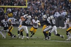 Oakland Raiders vs Pittsburgh Steelers RB #38 Jaylen Samuels Photos by Tod Fierner ( Martinez News-Gazette )