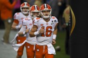 2019 NCAA National Championship Game Tiger QB #16 Trevor Lawrence Clemson Tigers vs Alabama Crimson Tide Photos by Gerome Wright
