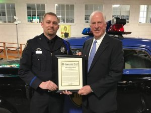 Cpl. Ryan Baille and U.S. Rep. Mike Thompson