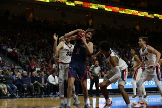 West Coast Conference Championship Saint Mary's Gaels vs Gonzaga Bulldogs #1 Jordan Hunter Photos by Tod Fierner (Saint Mary's College Photographer)