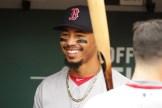 Oakland A's vs Boston Red Sox #50 RF Mookie Betts