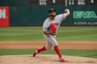 Oakland A's vs Boston Red Sox #57 P Eduardo Rodriguez