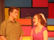 Jeffrey Metz as Hugo Peabody and Skylar Wondrusch as Kim MacAfee
