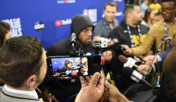 Golden State Warriors Toronto Raptors Media Shootaround