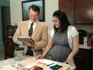 Jeff and our daughter-in-law Susan reading Peruvian recipes.