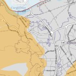 Map showing potential affected areas of PG&E shutoff in Martinez and Contra Costa County
