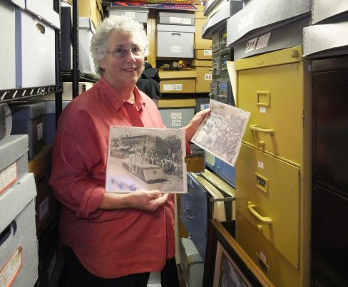 Archive Vault -- Museum Director Andrea Blachman with Photos -- for email