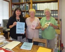 Debbie McKillop + Kathy Braun + Museum Director Andrea Blachman in Museum Local History Library