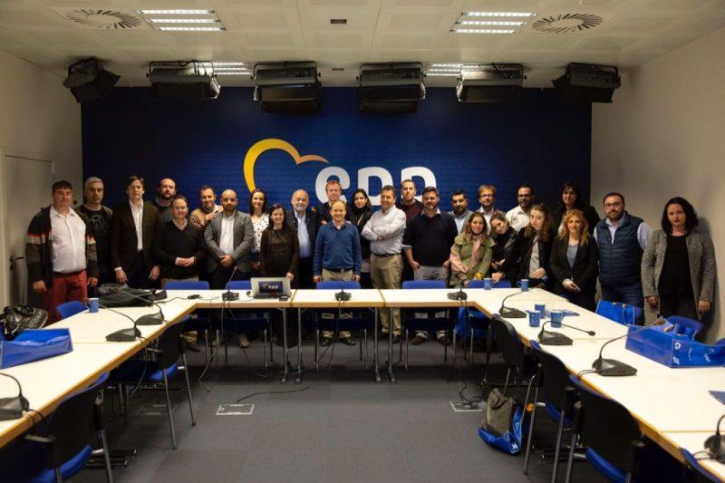 Reunión de trabajo en la sede del EPP (Bruselas)