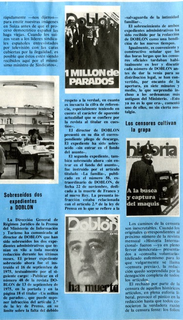 Secuestros y expedientes contra Doblón