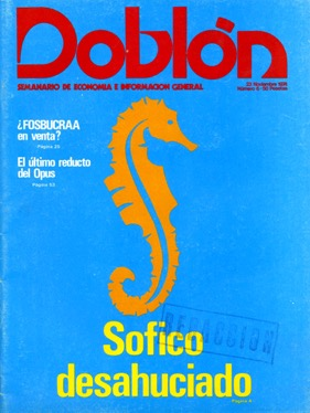 Portada de Doblón, noviembre 1974
