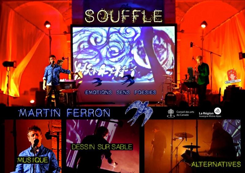 Martin Ferron SOUFFLE, affiche tournée