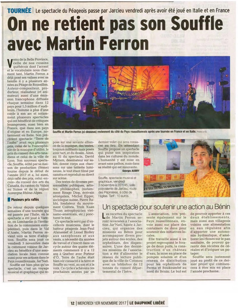 Martin Ferron Press SOUFFLE