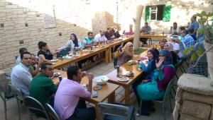 ICA MENA staff lunch in Bayad June 2015