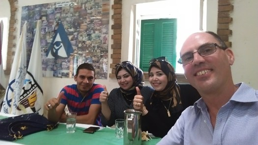 Martin with some of the new staff of ICA MENA Bayad June 2015
