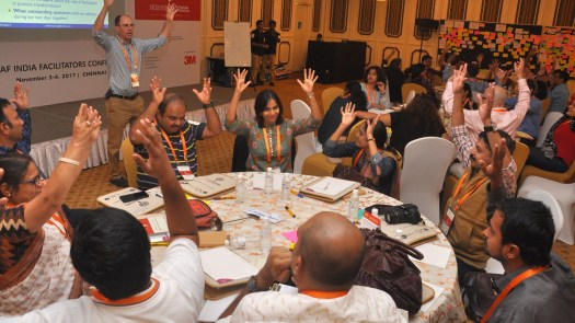 IAF India Conference, 2017 in Chennai - photo IAF India, facilitation Martin Gilbraith #ToPfacilitation #IAFIndia17 1