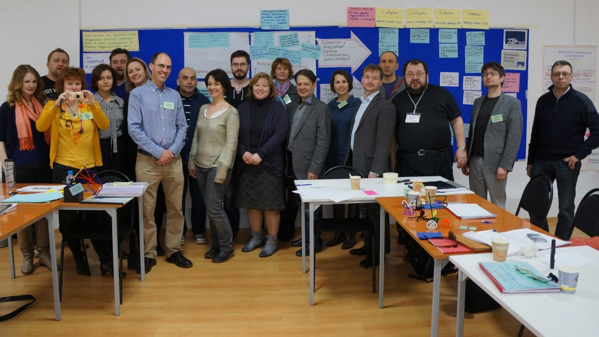 ToP Participatory Strategic Planning training, 2014 with Personal Image in Moscow - photo Personal Image, facilitation Martin Gilbraith #ToPfacilitation 2