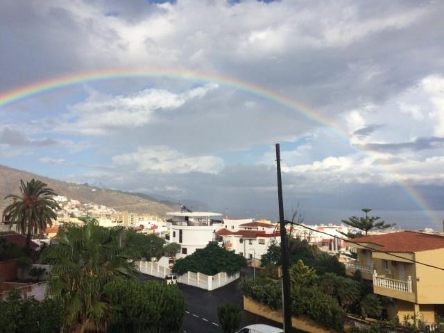 Rainbow over the Santa Cruz