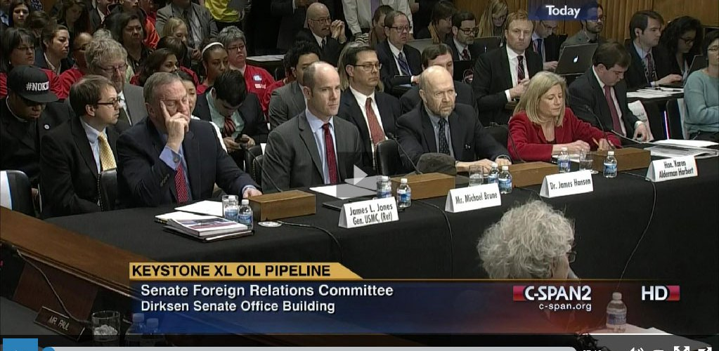 James Hansen US Senate Keystone pipeline