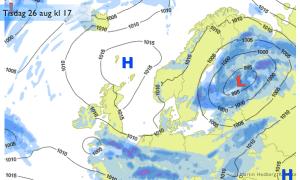 Sverige: Högtryck, nordliga vindar och varmare