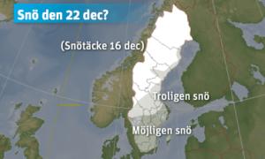 Här blir det snö på Julafton