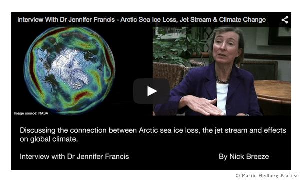 Intervju med Dr Jennifer Francis om arktisk is, jetvindar och klimatförändringar