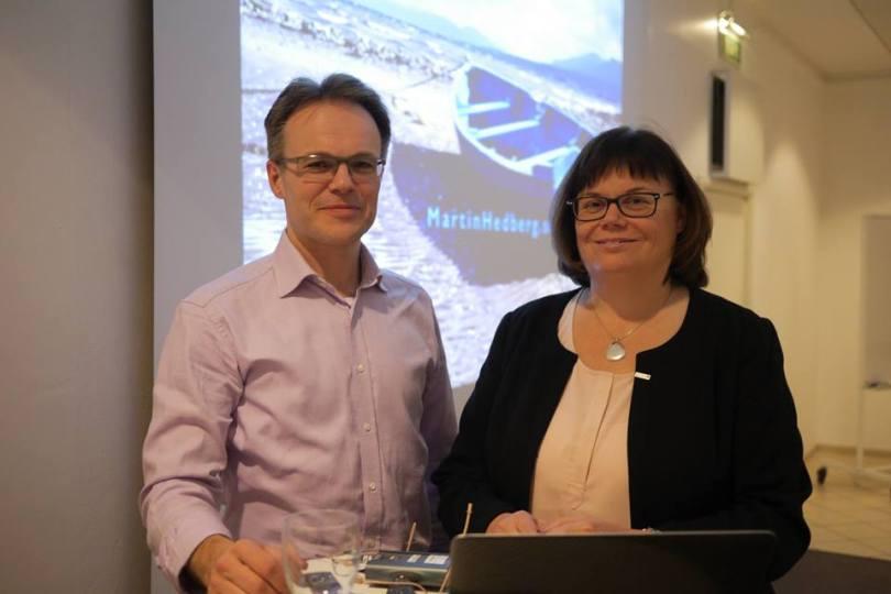 Martin Hedberg och Maria Rengefors, VD Nordea Fonder
