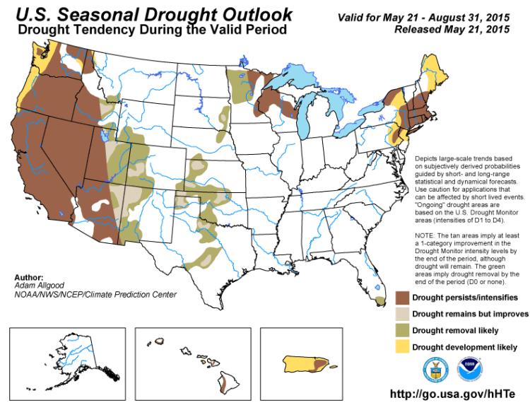 NOAA Seasonal Drought Forecast