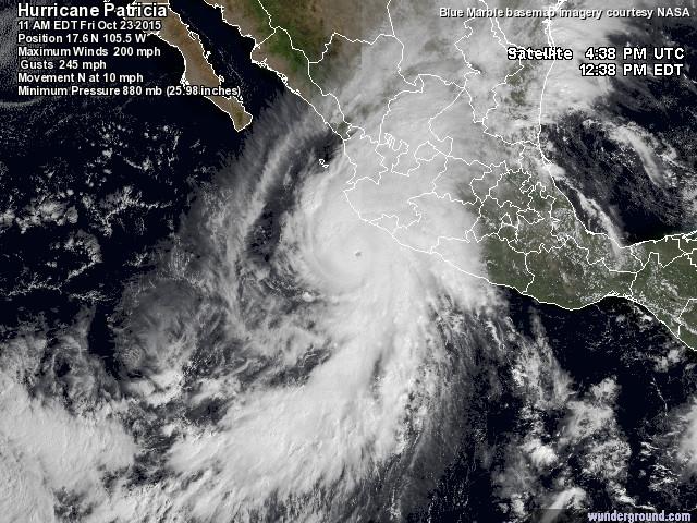 Tropiska cyklonen Patricia