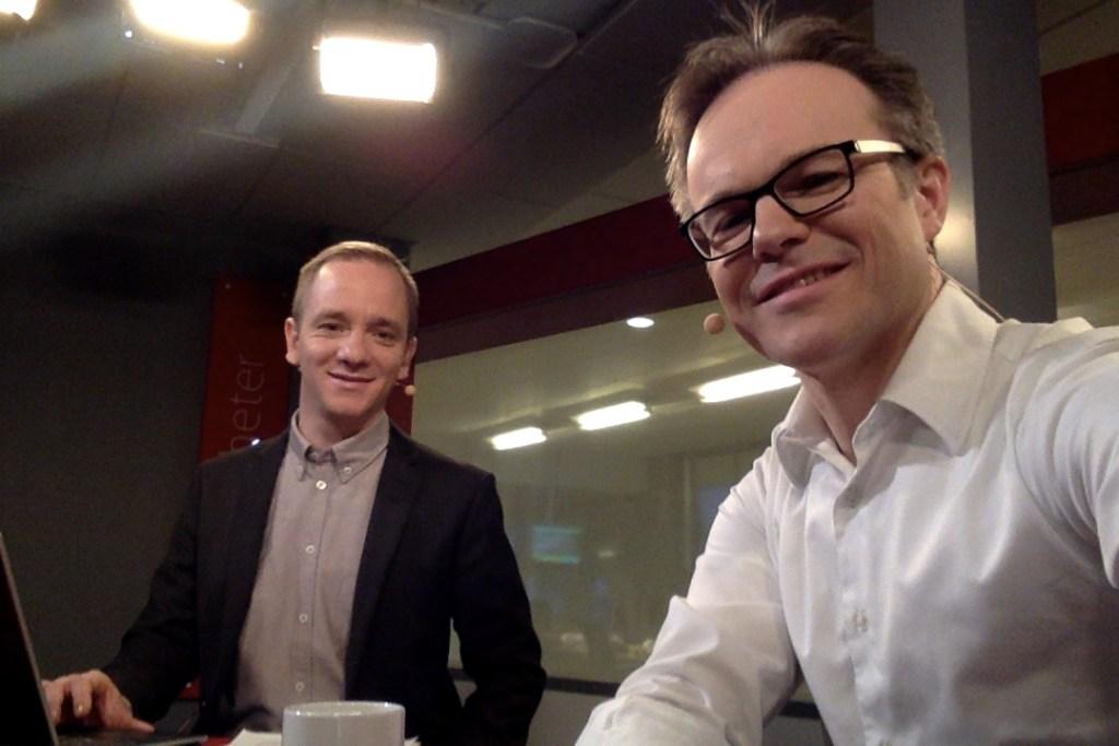 Sändning på SVT Nyheter tillsammans med David Boati