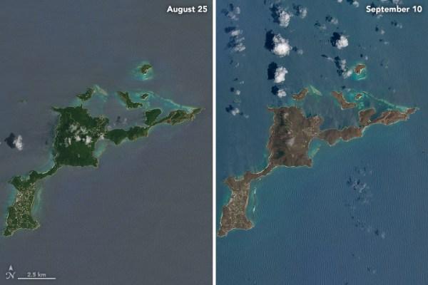 Före och efter Irma