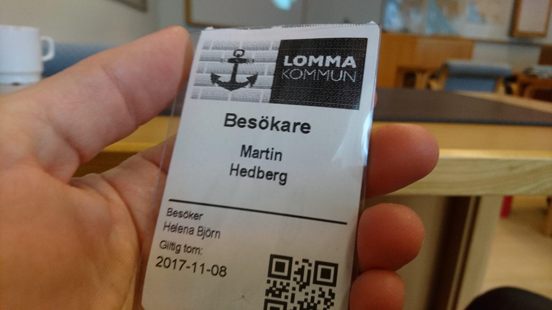 Föreläste för Lomma kommun