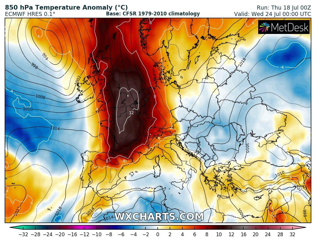 Nästa värmebölja i Västeuropa