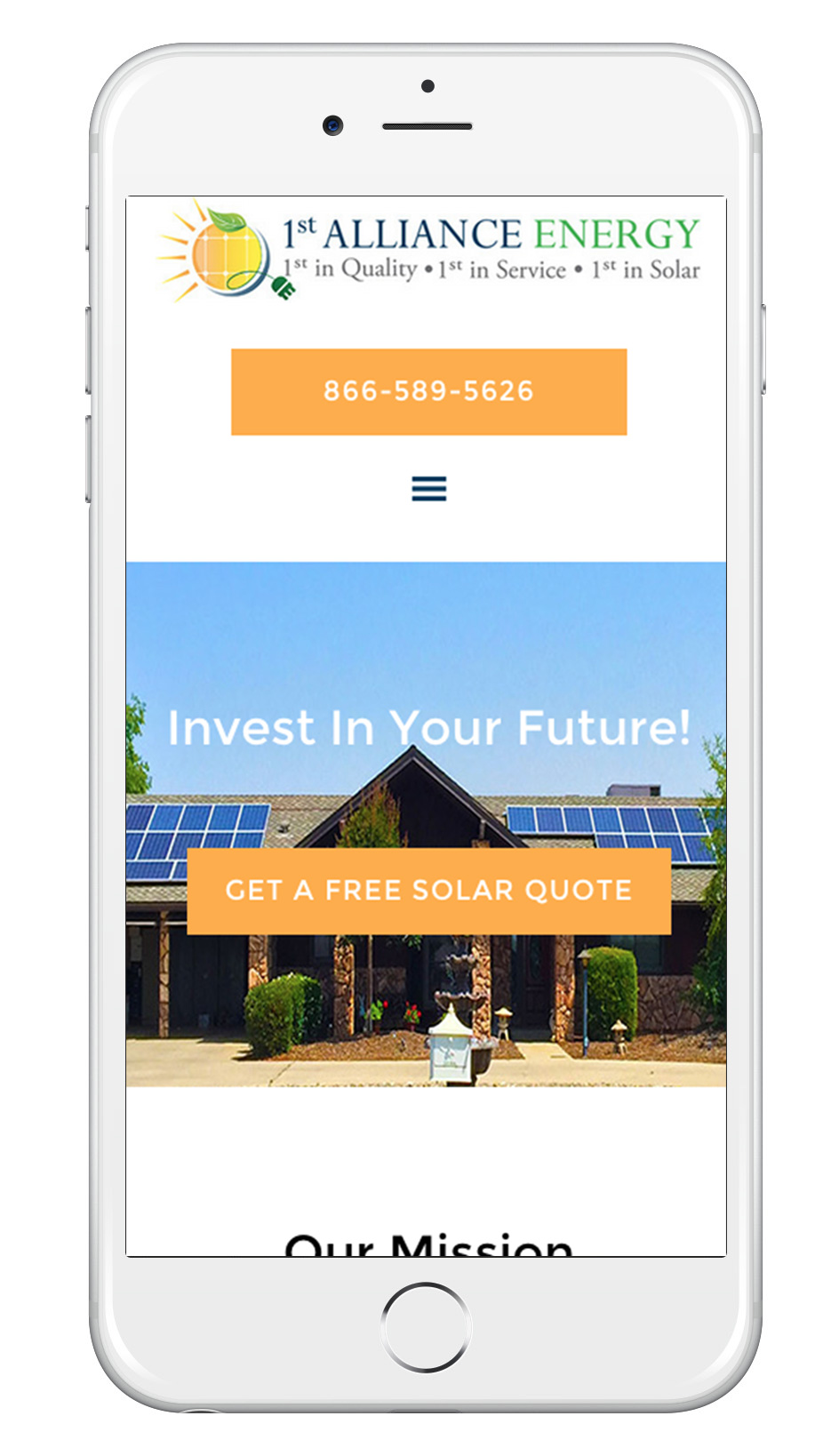 Mobile-Friendly Business Website That Work on iphone
