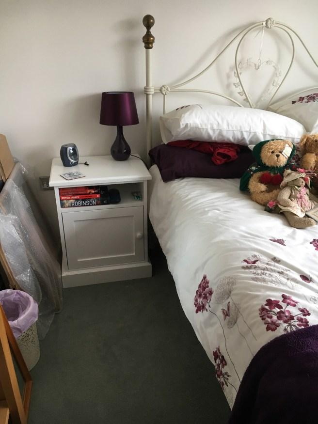 Bedside cabinet delivered to customers house