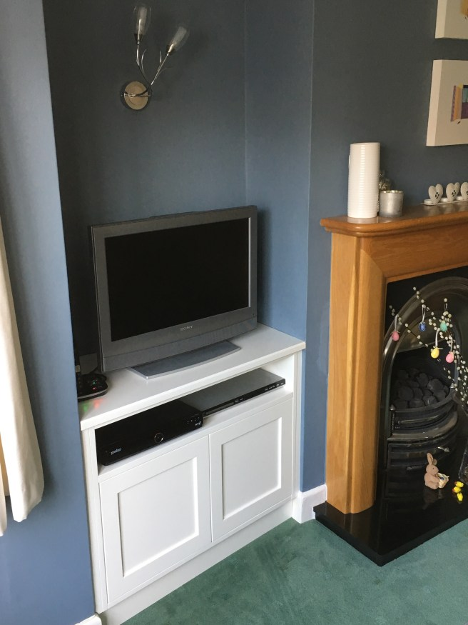 Spray finished TV cabinet in Shoreham by sea