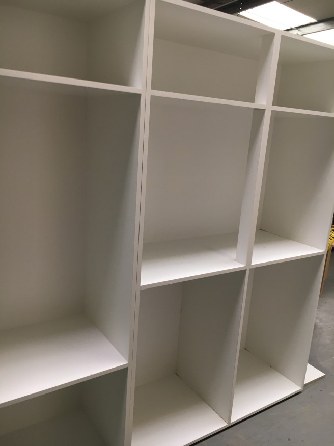 Fitted wardrobe under construction