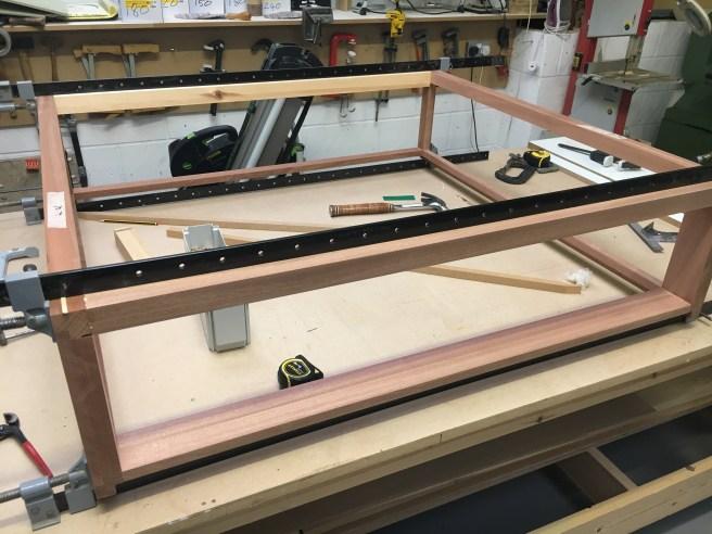 Frame work for glazed unit