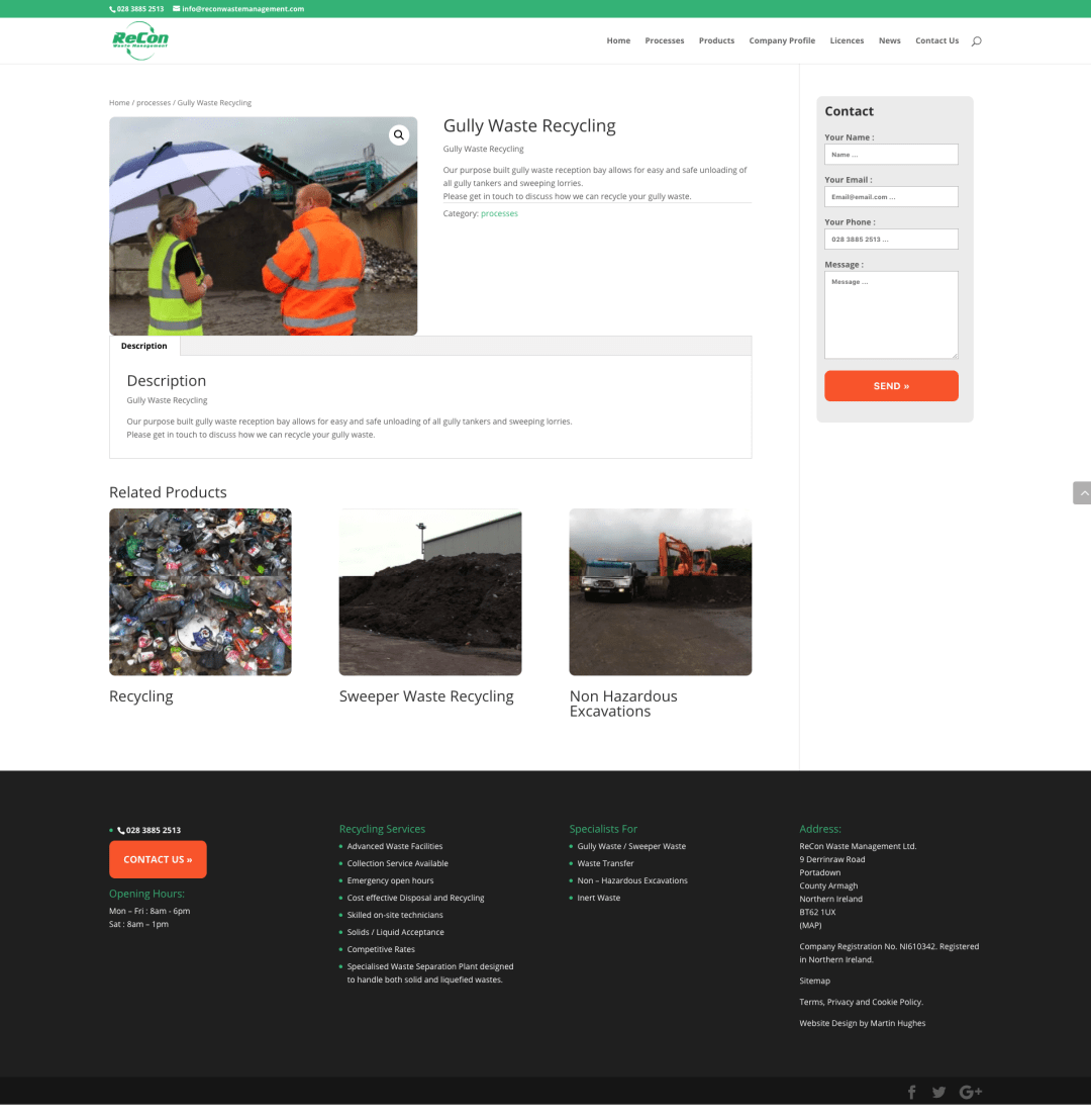 screenshot recon waste management .com